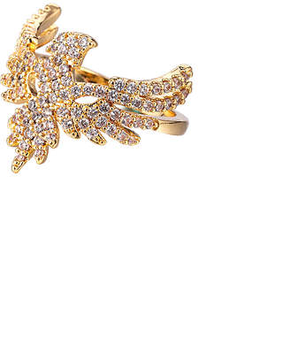Eye Candy Los Angeles Eye Candy La 18K Gold Plated Cz Eagle Ring