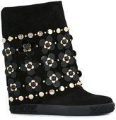 Casadei floral embellished flat boots