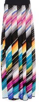 Missoni Angled-Stripe Maxi Skirt, Black Multi