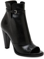 Jil Sander Black Peep Toe T-Strap Ankle Booties