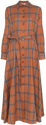Evi Grintela Carla check shirt dress