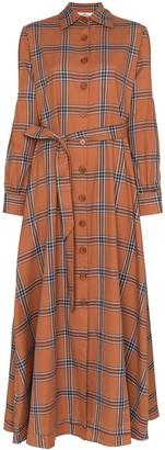 Evi Grintela Carla check shirt dress