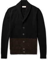 John Smedley - Cairn Shawl-collar Colour-block Merino Wool And Cashmere-blend Cardigan