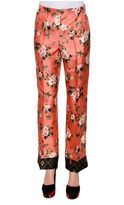 For Restless Sleepers Printed Silk Pajama Pants