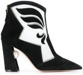 Nicholas Kirkwood Miri Mesh Nevada ankle boots