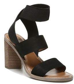 Franco Sarto Dear Leather Block-Heeled Sandals