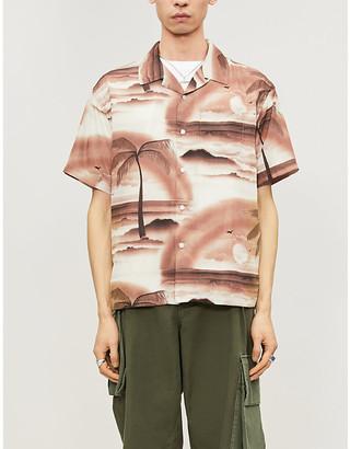 Stussy Tropical-print boxy-fit woven shirt