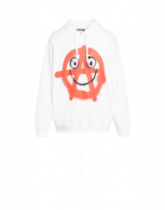 Moschino Spray Print Cotton Sweatshirt