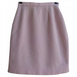 Courreges Pink Wool Skirt for Women Vintage