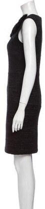 Blumarine Crew Neck Knee-Length Dress Black