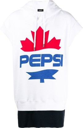 DSQUARED2 #D2XPepsi logo print short-sleeved hoodie