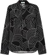 Kenzo Black Geometric Felt Shirt