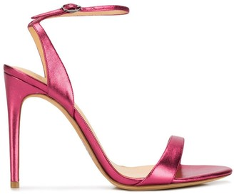 Alexandre Birman Willow 100 metallic sandals