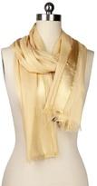 Saachi Taupe Gold Trim Wrap