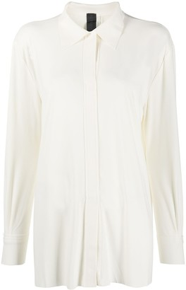 Norma Kamali Concealed-Placket Blouse