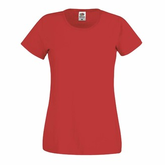 Fruit of the Loom Original T Lady-Fit Women's T-Shirt - White - Small