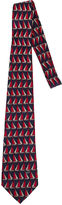One Kings Lane Vintage Gucci Sailboat Blue Red Silk Tie