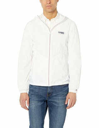 Tommy Hilfiger Tommy Jeans Men's Relaxed Fit Hooded Packable Windbreaker