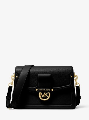 MICHAEL Michael Kors Jessie Medium Pebbled Leather Shoulder Bag