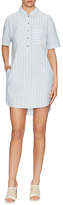 Saylor Halle Cotton High Low Shirt Dress