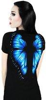 Oisk® Womens Digital Printed Punk Short Sleeves T-shirt Halloween Clothes (M, )