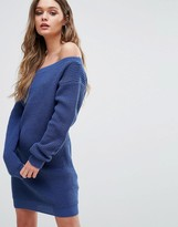 Boohoo Off The Shoulder Sweater Dress