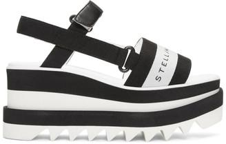 Stella McCartney Black and White Sneak-Elyse Sandals