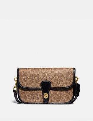 Coach Turnlock Tab Messenger In Signature Canvas