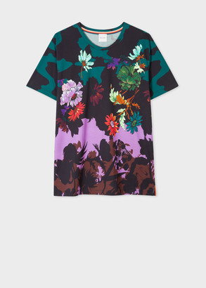 Paul Smith Women's Multi-Coloured 'Scattered Floral' Print T-Shirt