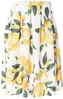 Lemon Print Full Skirt