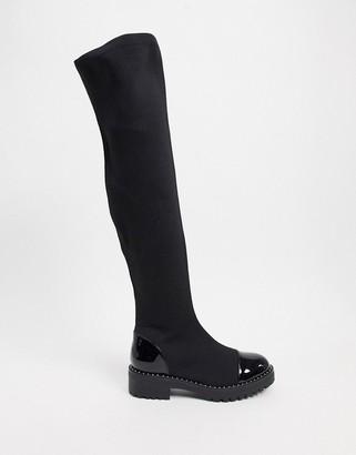 Kg Kurt Geiger KG by Kurt Geiger flat knee boots in black