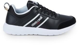 Roberto Cavalli Sport Logo Leather Sneakers