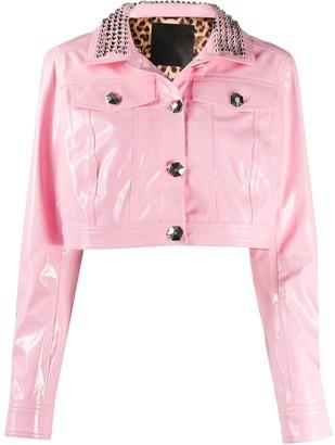 Philipp Plein Stud-Embellished Cropped Jacket