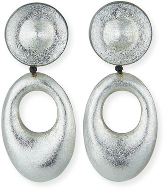 Viktoria Hayman Open Link Drop Statement Earrings