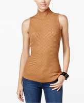 INC International Concepts Petite Ribbed Mock-Neck Sweater, Only at Macy's