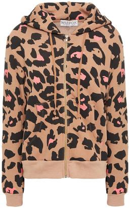 Wildfox Couture Leopard-print Cotton-blend Fleece Hoodie