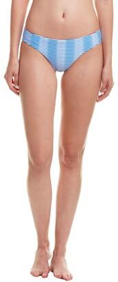 Shoshanna Women's Ombre Textured Stripe Hipster Bikini Bottom