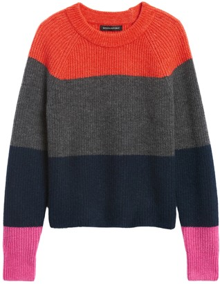 Banana Republic Petite Aire Color-Blocked Sweater