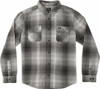 RVCA Men's MUIR Flannel Long Sleeve Woven Button Front Shirt