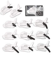 Kate Aspen Set Of 12 Airplane Luggage Tags