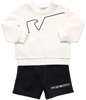 Emporio Armani Cotton Sweatshirt & Shorts