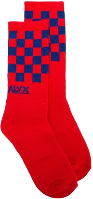 Alyx Glitter Check Socks