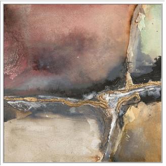 Jonathan Bass Studio Gilded Crevice 7, Decorative Framed Canvas