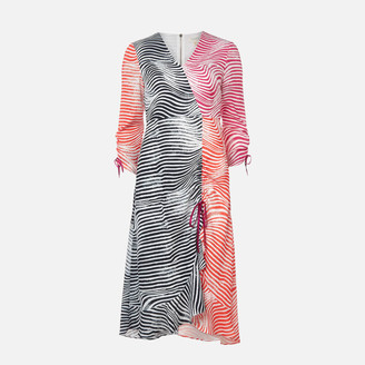 Ted Baker Women's Wizzoh Zebra Mashup Dress