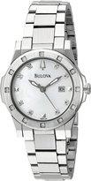 Bulova Women's 96R124 20 Diamond Mother of Pearl Dial Bracelet Watch