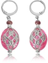 Antica Murrina Veneziana Florinda Ruby Murano Glass Earrings