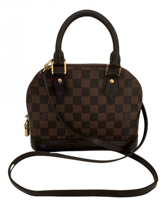 Louis Vuitton Alma BB Brown Cloth Handbags