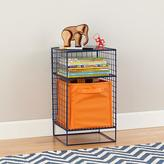 Navy On the Grid Nightstand
