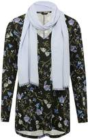 M&Co Floral tunic top with scarf