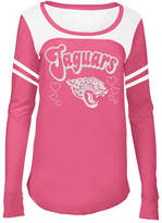 5th & Ocean Jacksonville Jaguars Pink Slub Long Sleeve T-Shirt, Girls (4-16)